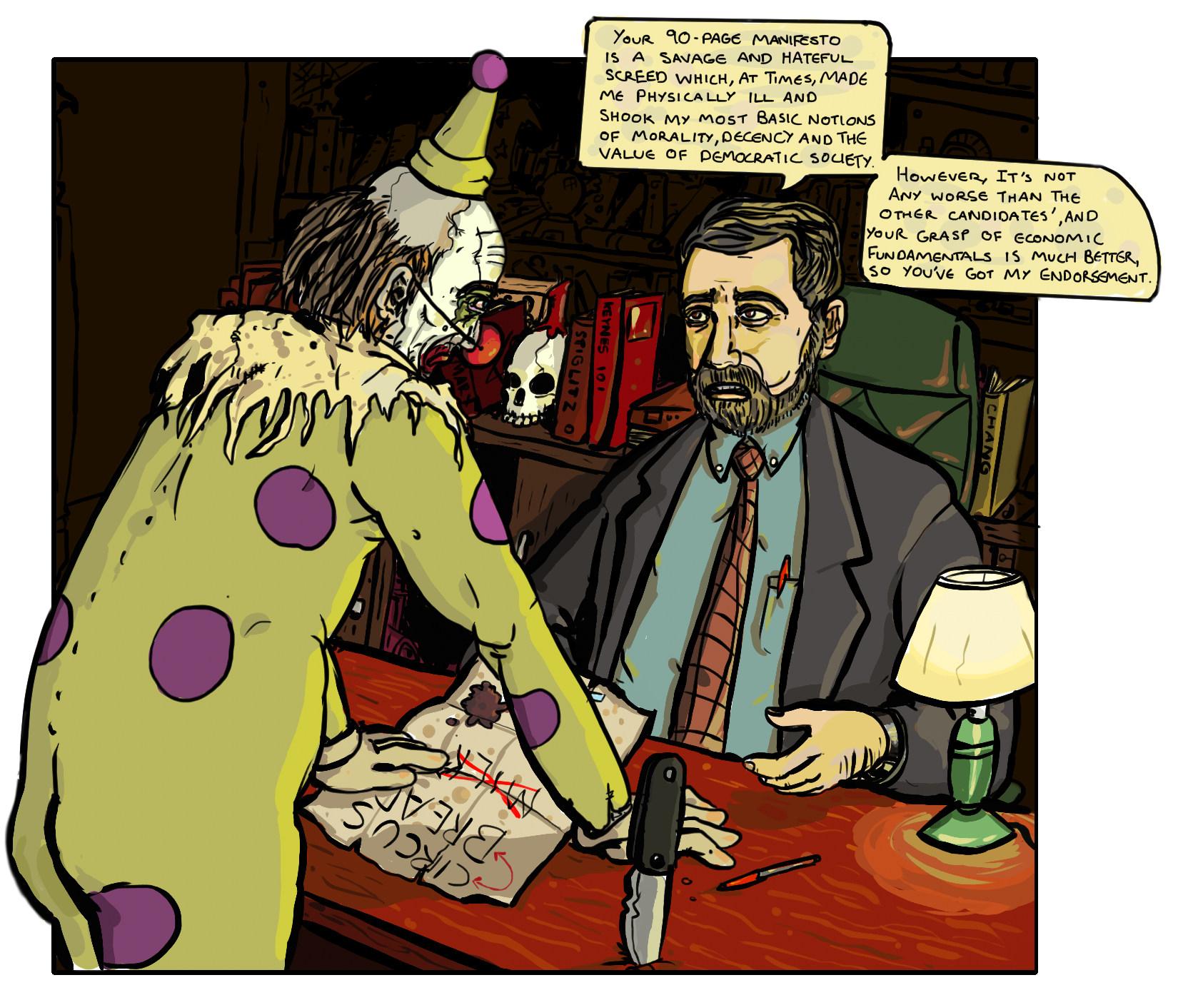 Clown and Krugman
