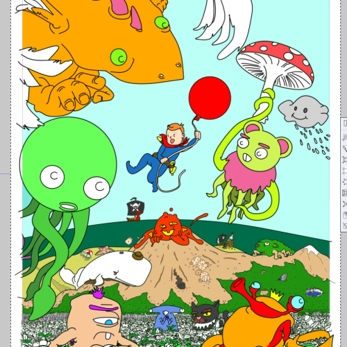 Entering the final stretch of colouring