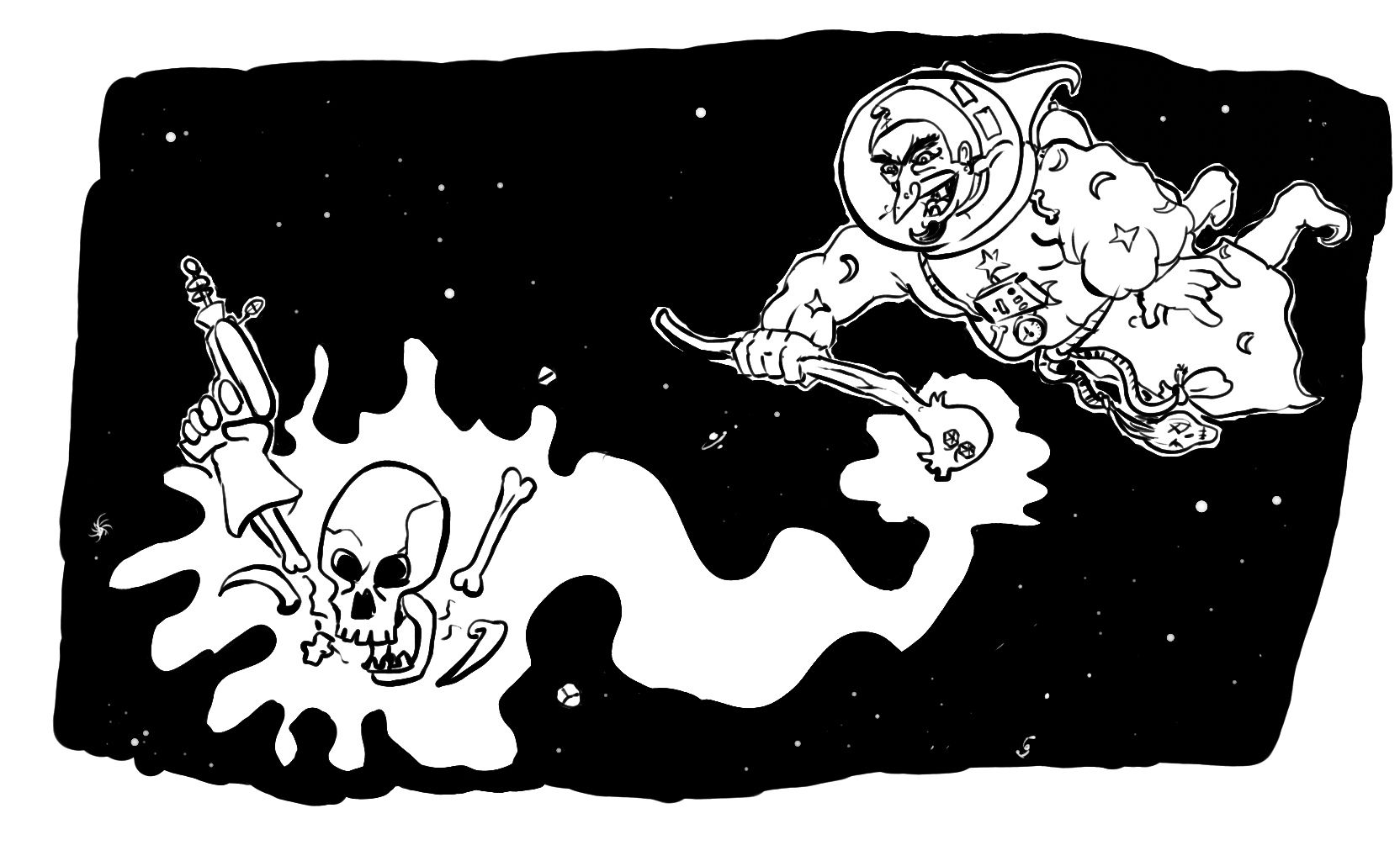 Where space skeletons come from