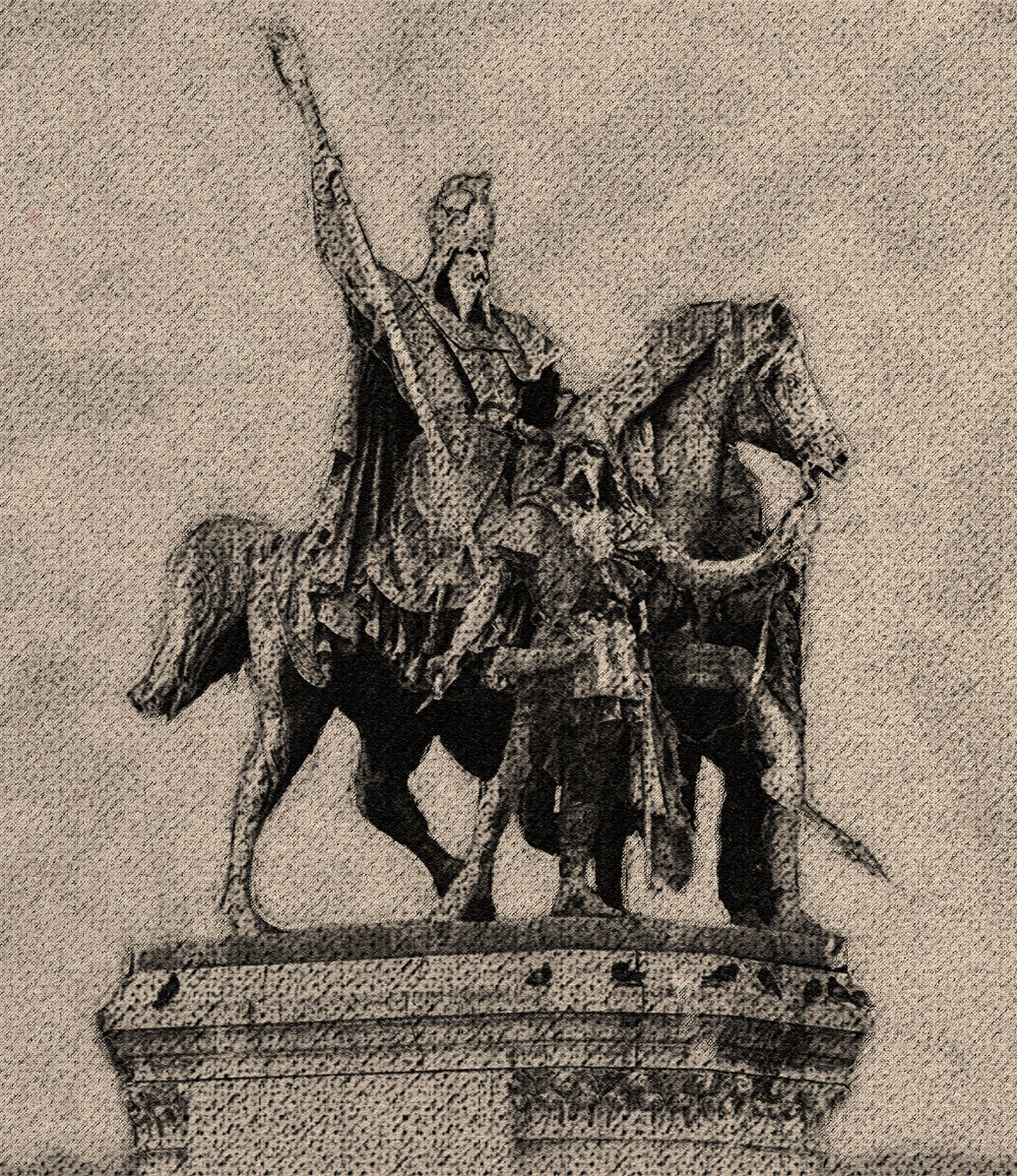 Photoshop – Charlemagne in charcoal